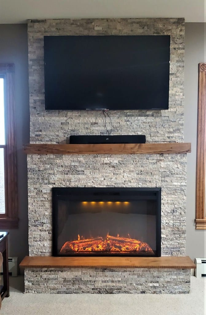 How to build a DIY Stone Fireplace