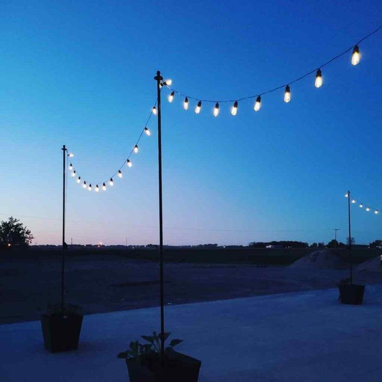 How to make DIY String Light Metal Posts
