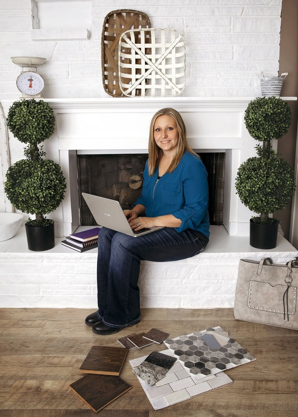 A portrait of Becky Wark of Boxwood Design Co